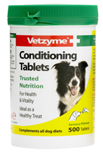 VETZYME CONDITIONING TABLETS FOR DOGS - 500