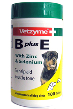 VETZYME B PLUS E TABLETS FOR DOGS - 100