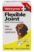 VETZYME FLEXIBLE JOINT WITH GLUCOSAMINE TABLETS FOR DOGS - 30