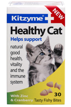 KITZYME HEALTHY CAT TABLETS WITH CRANBERRY & ZINC FOR CATS - 30