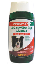 VETZYME JDS INSECTICIDAL SHAMPOO FOR DOGS - 250ML