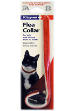 KITZYME VELVET FLEA COLLAR FOR CATS