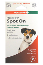 VETZYME FLEA AND TICK SPOT ON FOR SMALL DOGS - 12 WEEK