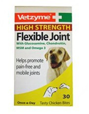 VETZYME HIGH STRENGTH FLEXIBLE JOINT TABLETS FOR DOGS - 30