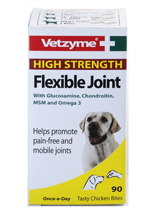 VETZYME HIGH STRENGTH FLEXIBLE JOINT TABLETS FOR DOGS - 90